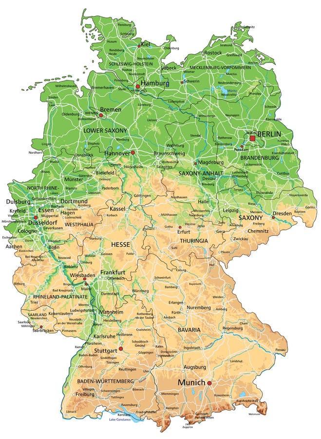 Szczegółowa mapa niemiec bawaria