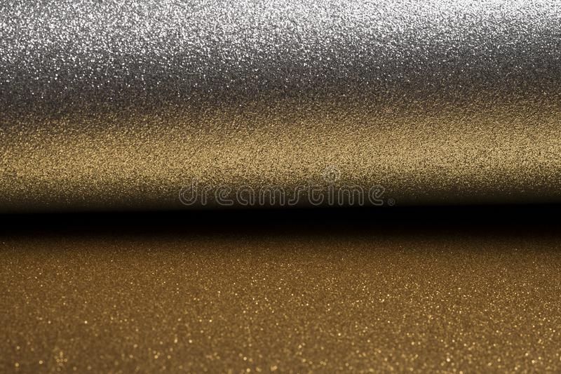 Szczegółowa tekstura błyskotliwy srebro i złocisty pył ukazujemy się dla bożych narodzeń zdjęcia stock