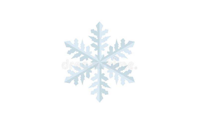Szczegółowego płatek śniegu wektorowy projekt - Wakacyjny czas w zimie, świętować wesoło boże narodzenia ilustracja wektor