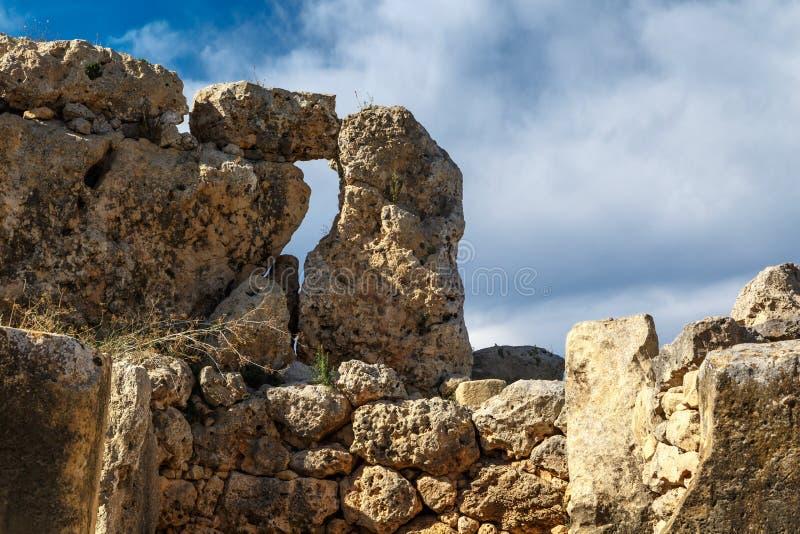 Szczegółowy Ggantija świątyni widok obrazy royalty free