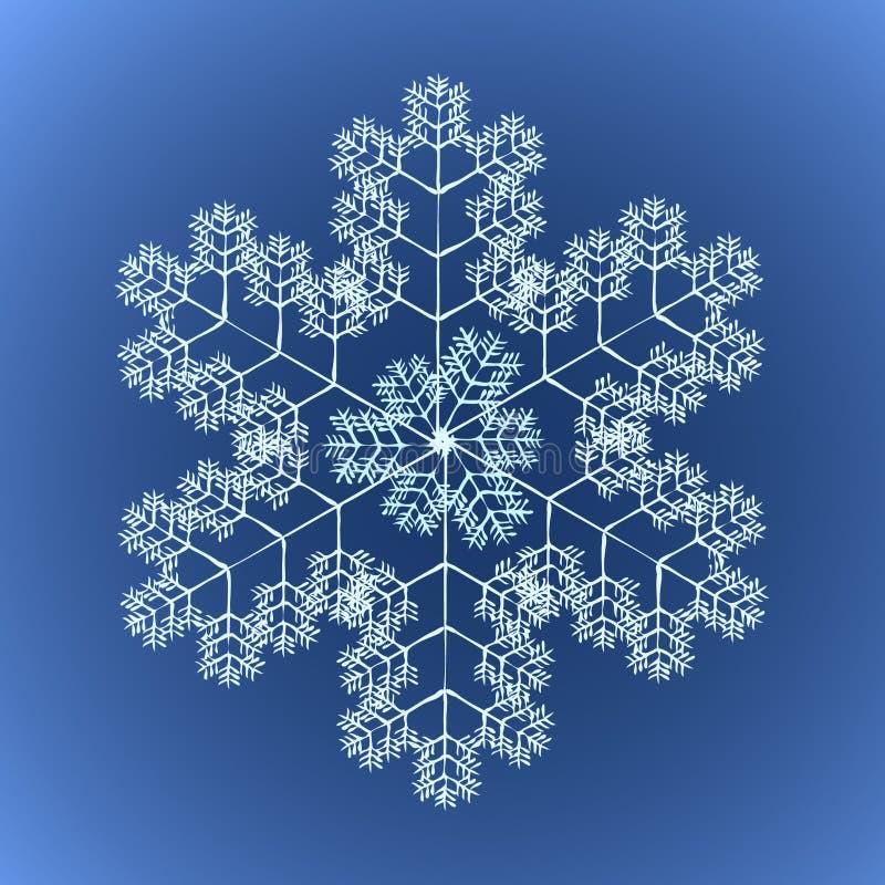 szczegółowy ostry płatek śniegu fotografia stock