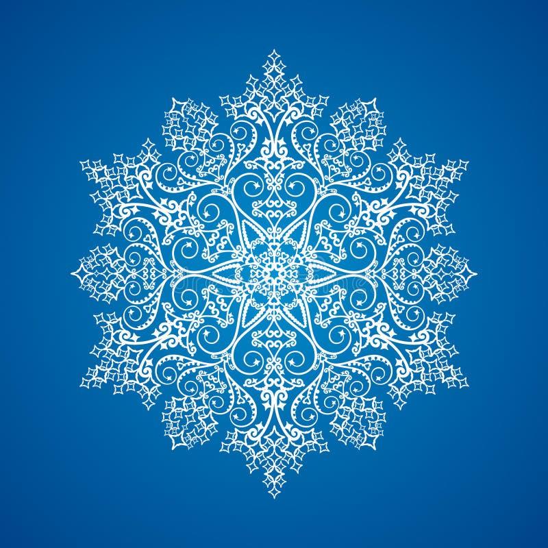szczegółowy pojedynczy płatek śniegu royalty ilustracja