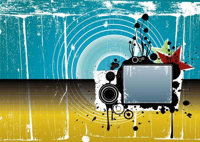 szczegółowy tła grunge bardzo nowoczesny ilustracji