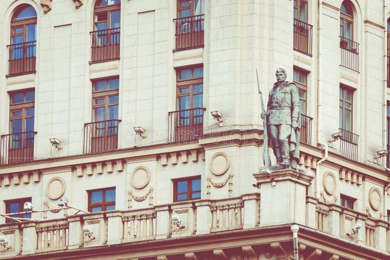 Szczegółowy widok bramy Minsk Radziecki dziedzictwo Sławny lan zdjęcie stock