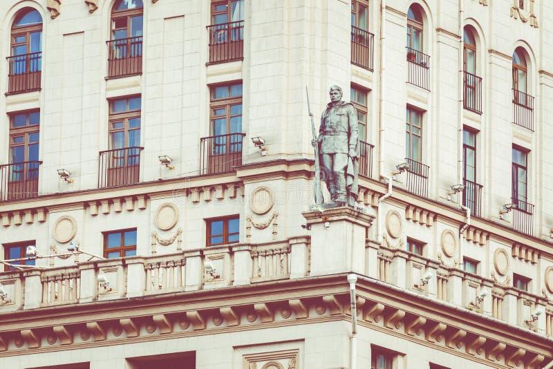 Szczegółowy widok bramy Minsk Radziecki dziedzictwo Sławny lan fotografia royalty free