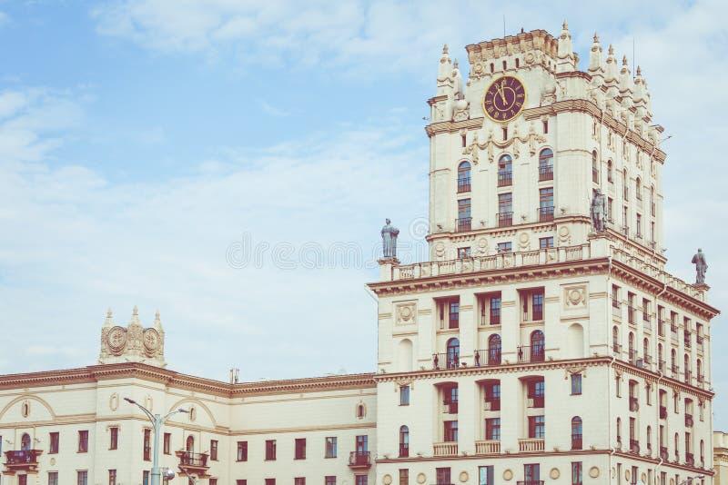 Szczegółowy widok bramy Minsk Radziecki dziedzictwo Sławny lan obrazy stock