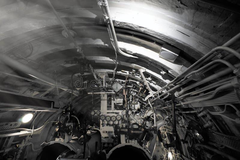 Szczegółowy widok klapy i drymby w łodzi podwodnej zdjęcia royalty free