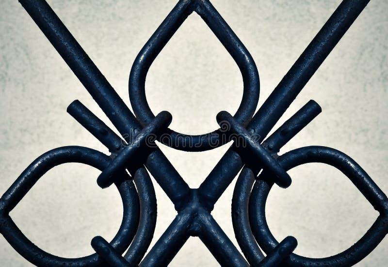 Szczegółu żelaza ornamentacyjne bramy obrazy stock