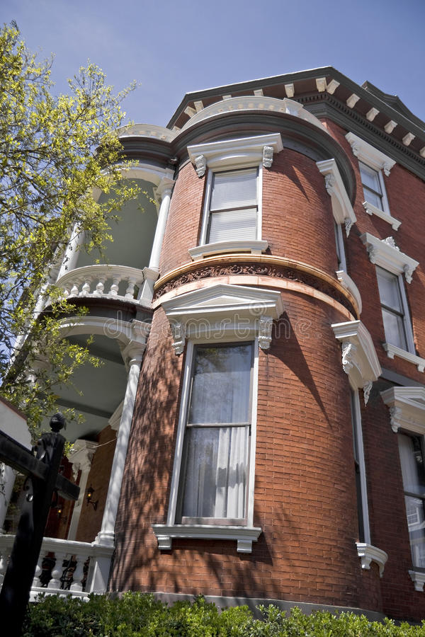 szczegółu architektoniczny ceglany dom obrazy royalty free