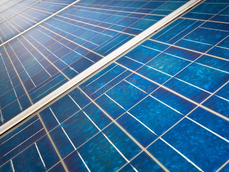 szczegółu ekologicznej panelu władzy słoneczna stacja zdjęcia royalty free