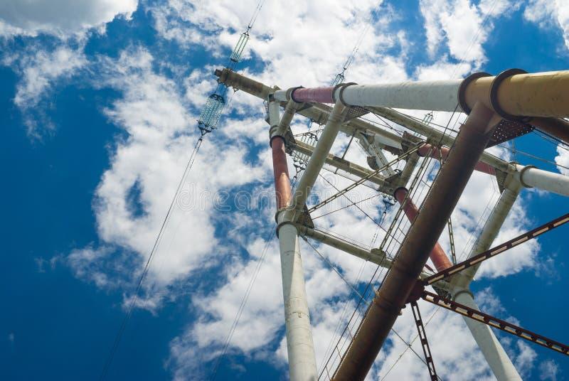 szczegółu elektryczności pilon obraz royalty free