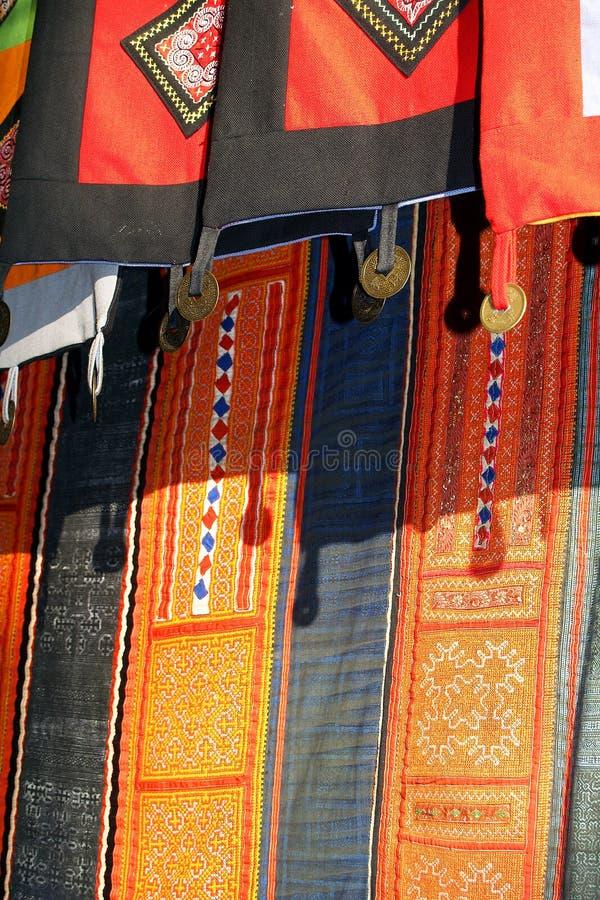 Szczegółu etniczny kostium zdjęcie stock