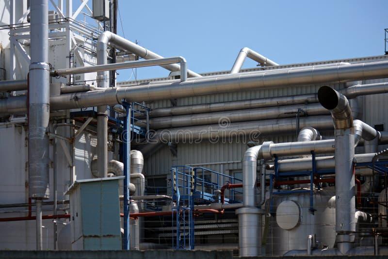 szczegółu instalation nafcianej drymby rafineria fotografia stock