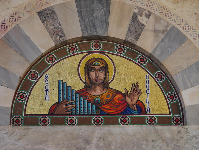 Szczegółu kościół Cagliari zdjęcie stock