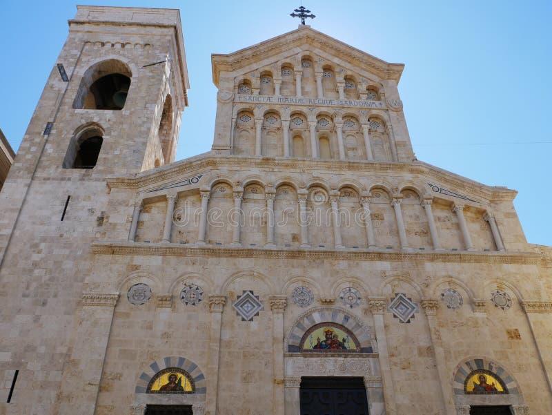 Szczegółu kościół Cagliari zdjęcia royalty free