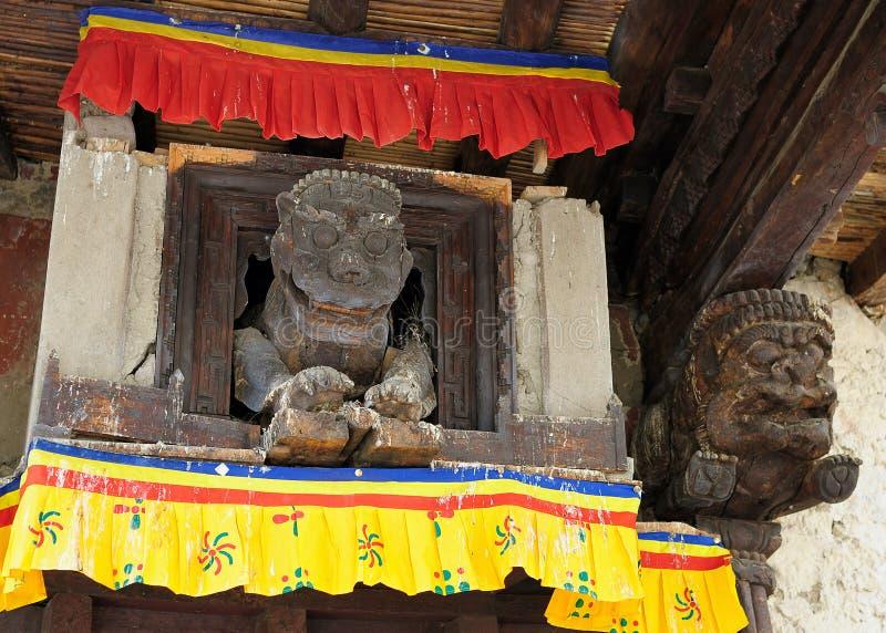 Szczegółu Leh pałac, Ladakh, India zdjęcia stock