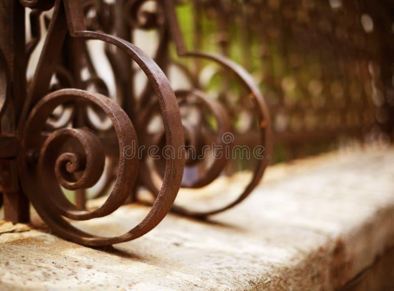 szczegółu ogrodzenia żelazo dokonany fotografia royalty free