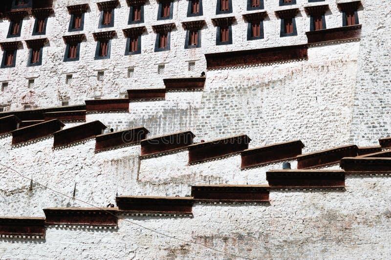 szczegółu pałac potala Tibet obraz royalty free