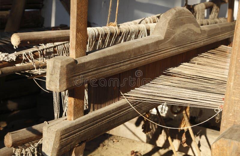szczegółu ręki krosienka tkactwo obraz stock