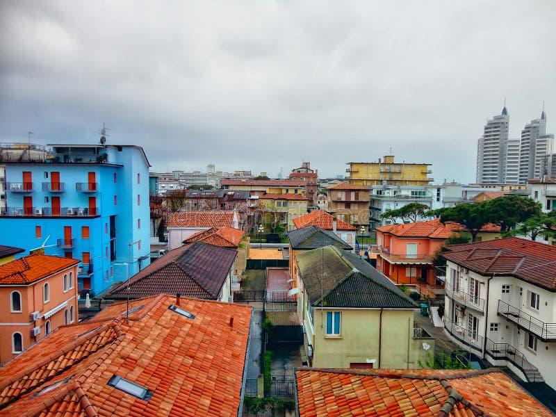 Szczegółu Sceniczny widok Kolorowi domy w Włochy zdjęcia royalty free