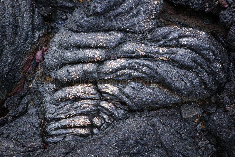 szczegółu złocista Hawaii lawy arkana w obrazy royalty free