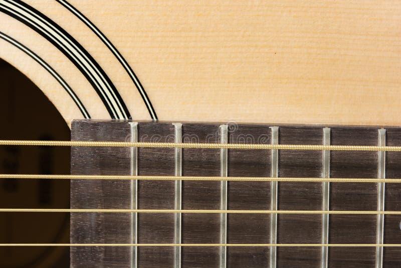 Szczegółu zbliżenie klasyczna gitara zdjęcia royalty free