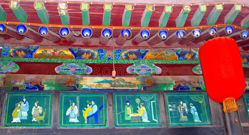 Szczegóły antyczna salowa architektura w Pingyao, Chiny obraz stock