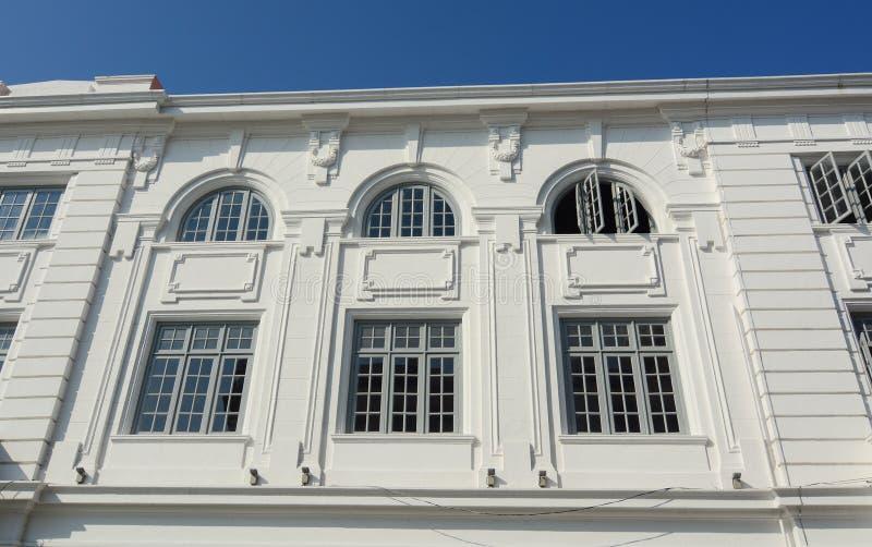 Szczegóły Biały pałac w George Town, Malezja obrazy royalty free