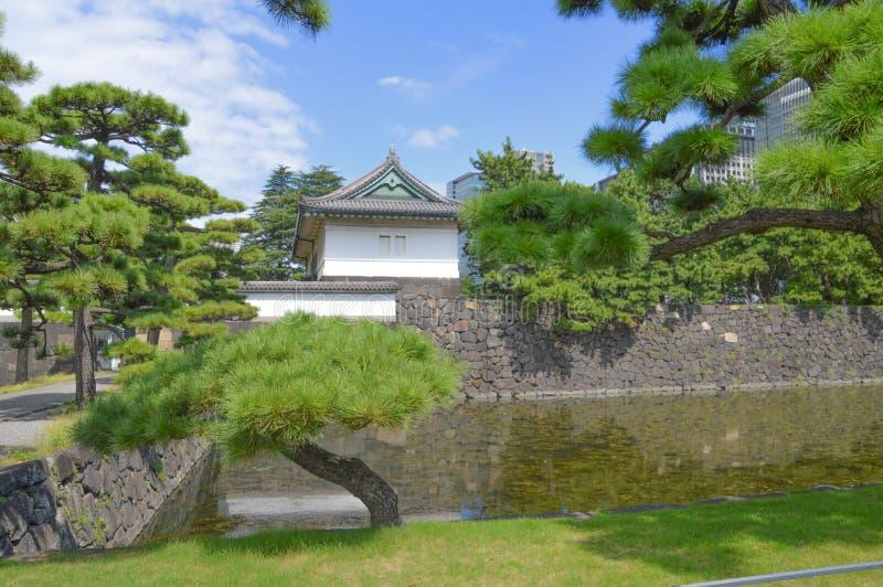 Szczegóły Cesarski pałac W Tokio Japonia zdjęcia stock