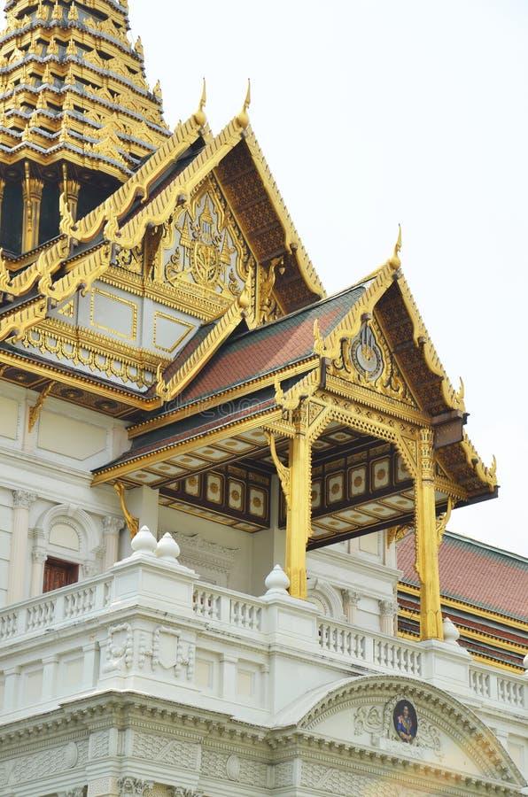 Szczegóły Chakri Maha Prasat tron wśrodku Uroczystego pałac zdjęcia royalty free