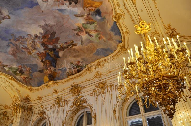 Szczegóły dekoracja pokój w cesarskim pałac w Wiedeń zdjęcie royalty free