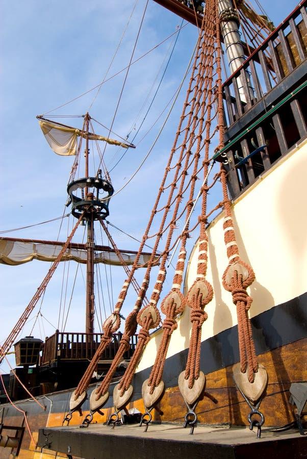 szczegóły fasonujący starego statku zdjęcie stock