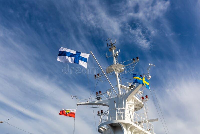 Szczegóły ferryboat pokład obraz royalty free
