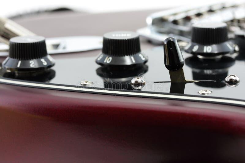szczegóły gitara elektryczna fotografia stock