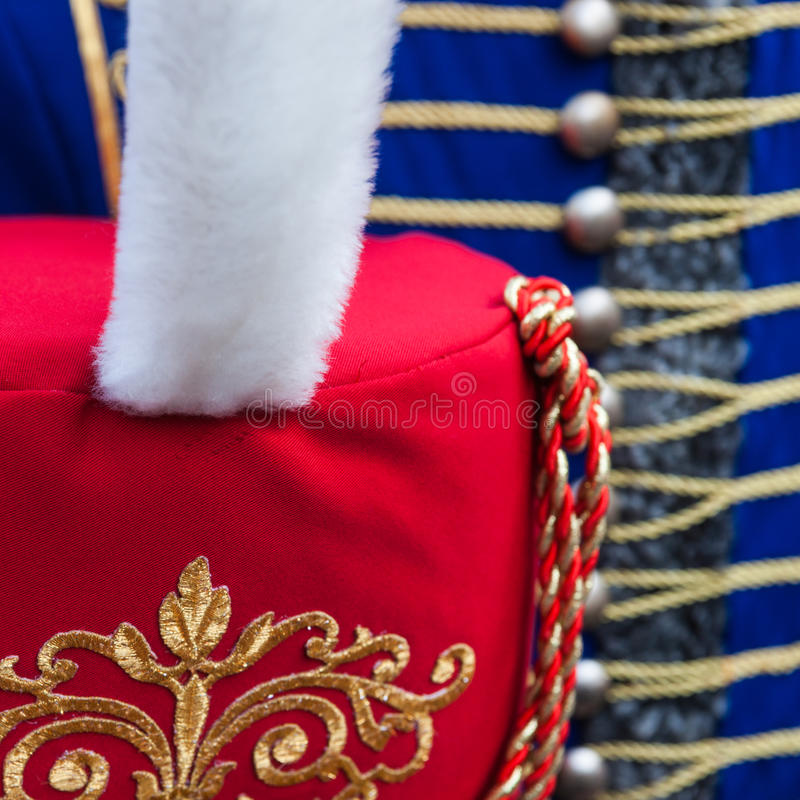 Szczegóły hussar busby kapelusz obraz royalty free
