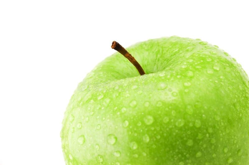 szczegóły jabłczana green obraz stock