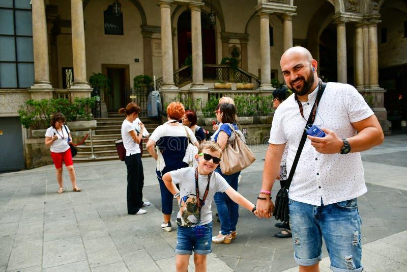 Szczegóły Mediolan, Włochy fotografia stock