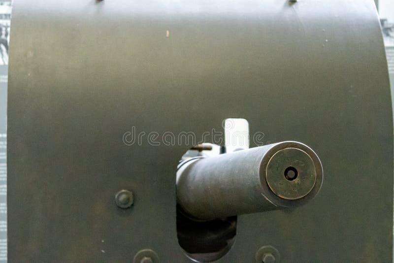 Szczegóły militarny wyposażenie w Militarnym muzeum Brussel fotografia royalty free