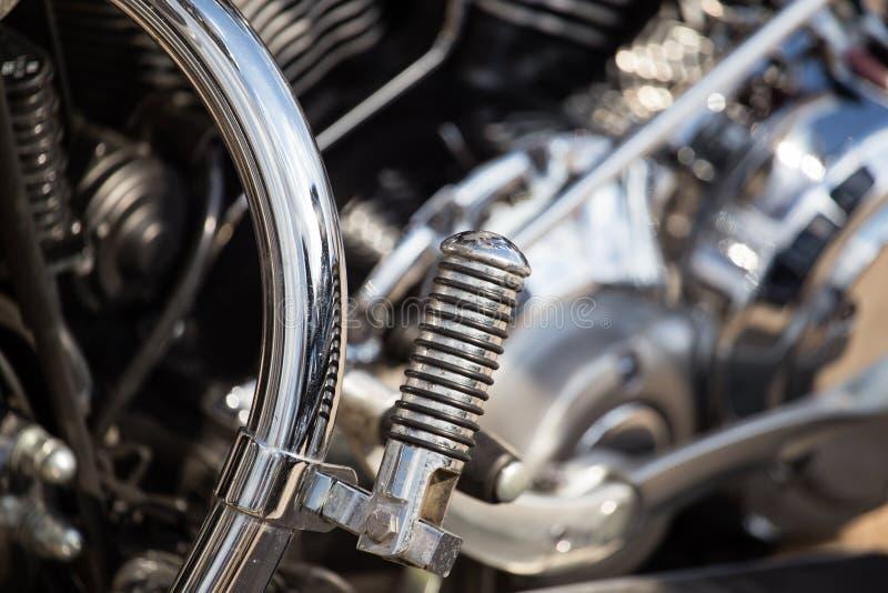 Szczegóły na sporta motobike zdjęcie royalty free
