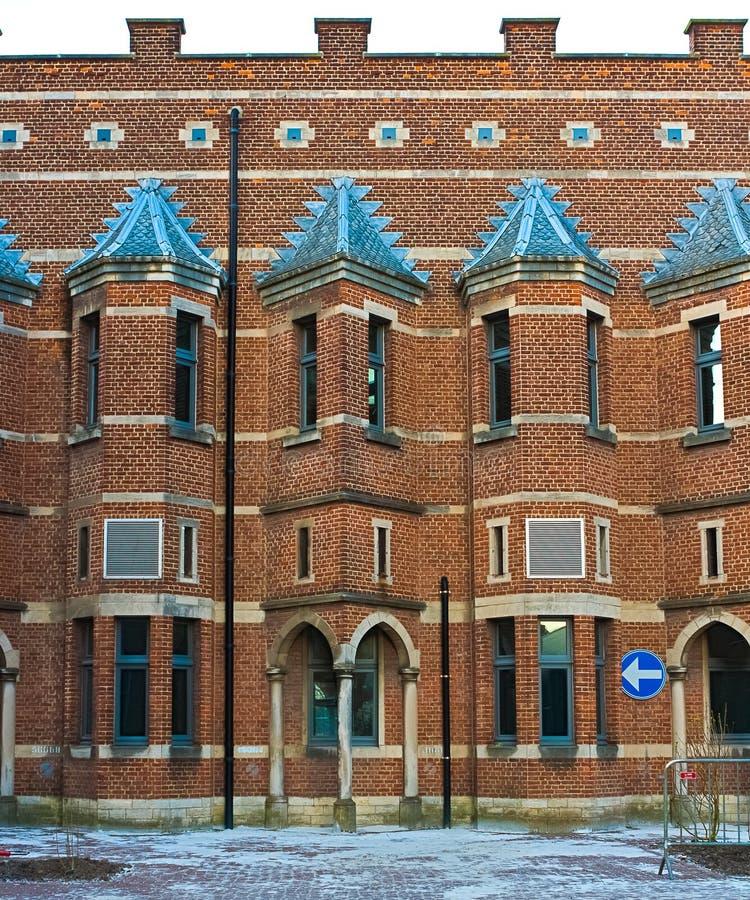 Szczegóły neogothic budynek zdjęcia royalty free