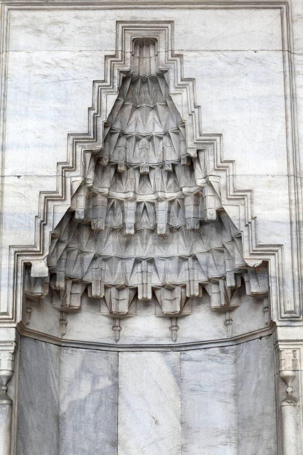 Szczegóły nisza w ścianie meczet obraz royalty free