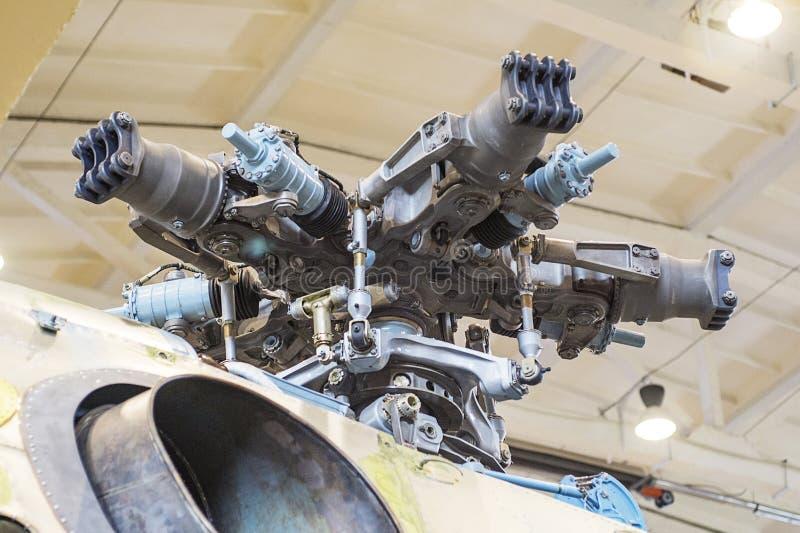 Szczegóły ostrza śmigłowca wojskowego. Zbliżenie szczegółów ostrza śmigłowca wojskowego obraz royalty free