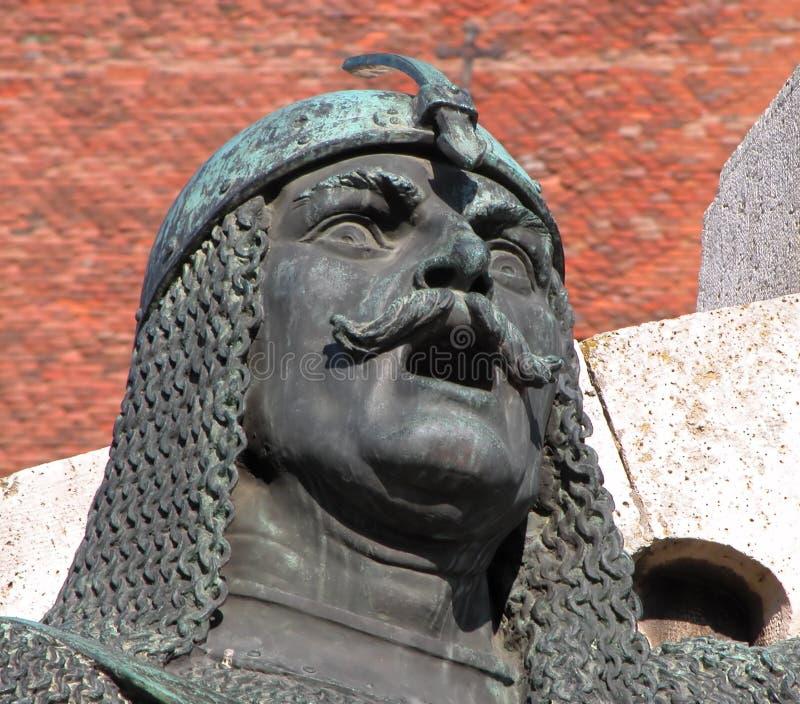 szczegóły posągów wojownik obraz stock