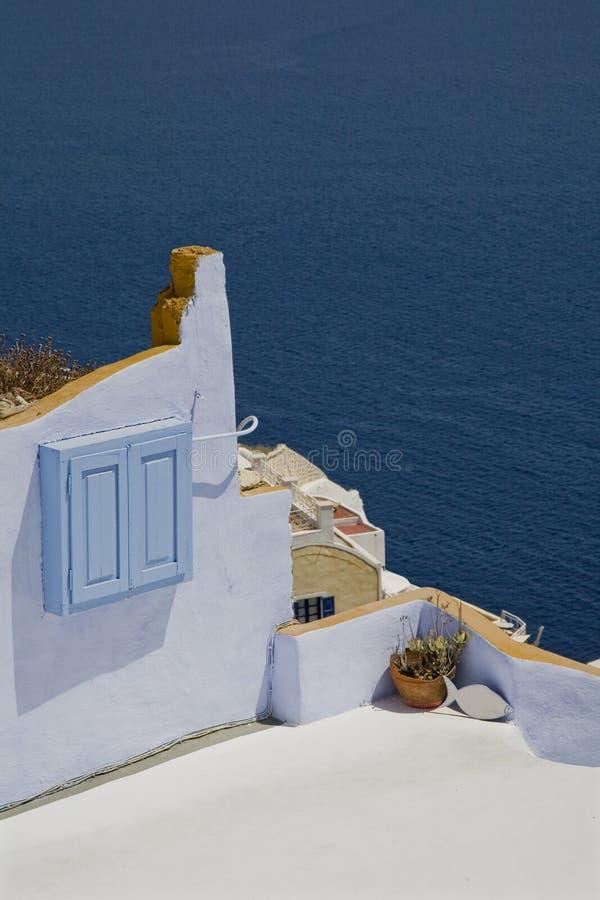 Szczegóły Santorini zdjęcie stock
