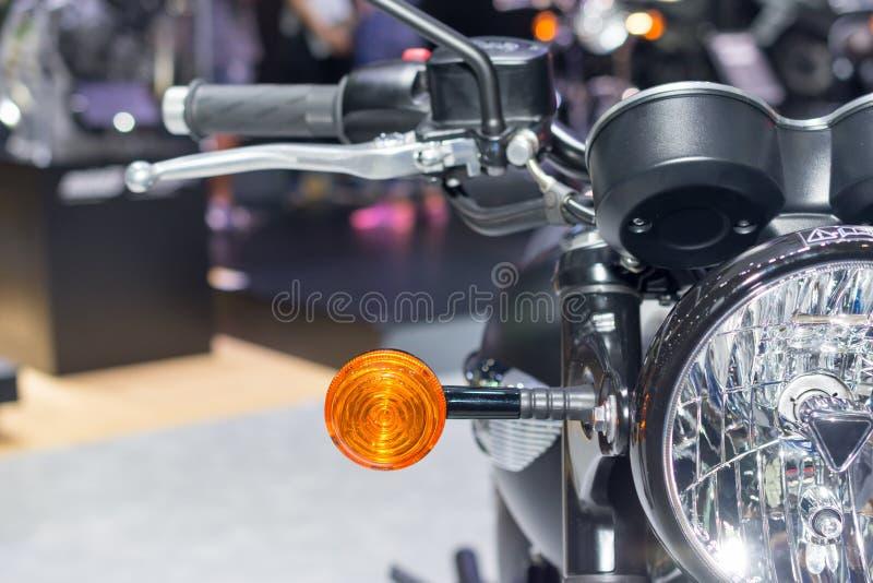szczegóły stać na czele motocykl obraz stock