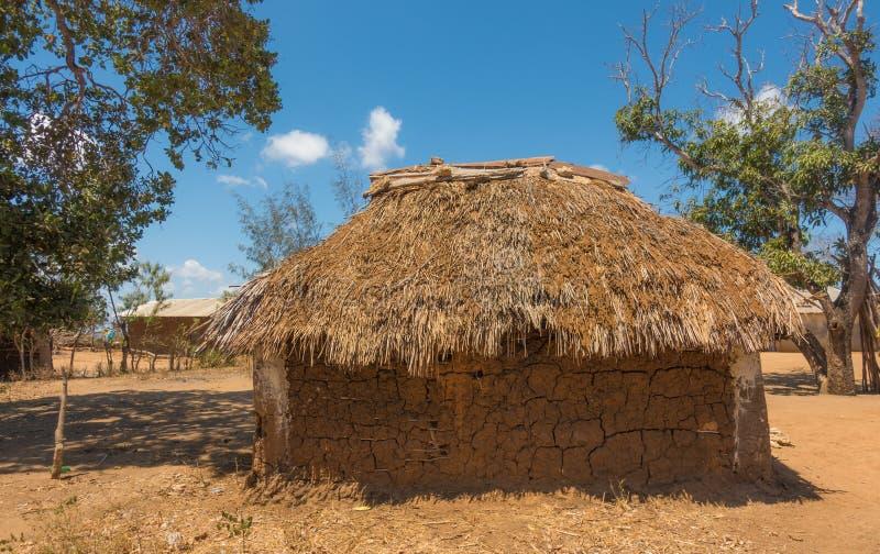 Szczegóły tradycyjny Kenijski Giriama plemienia dom zdjęcia royalty free