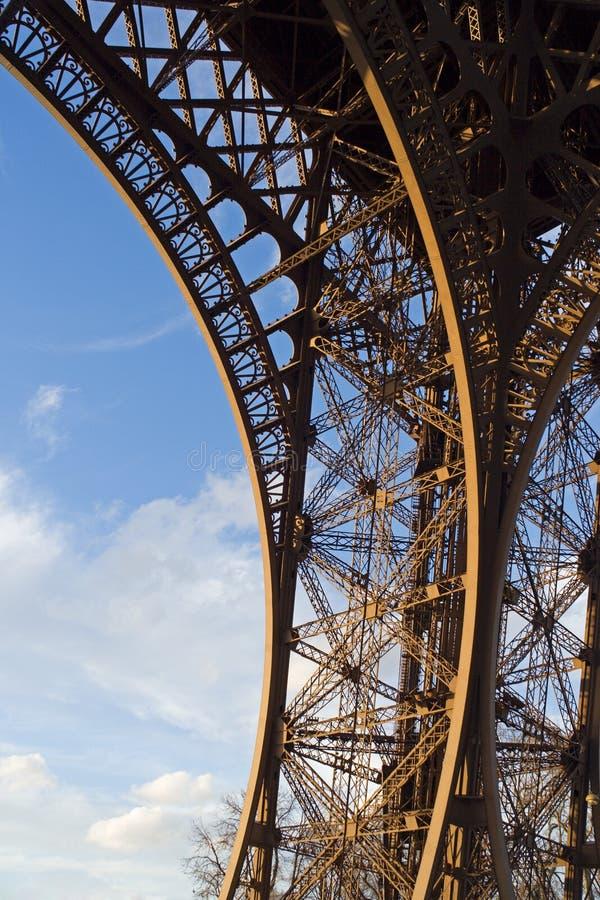 szczegóły wieża eiffla fotografia stock