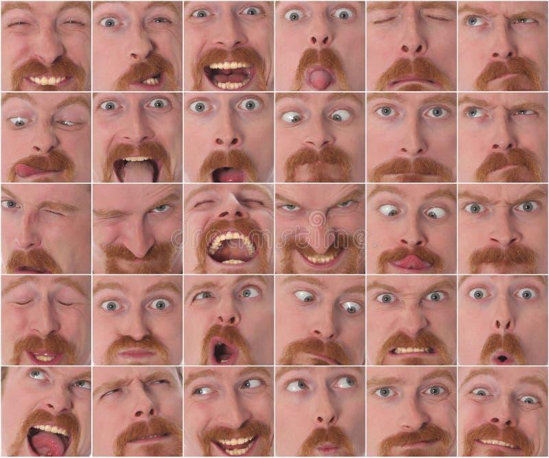 Szczegóły wielcy wyrazy twarzy fotografia stock