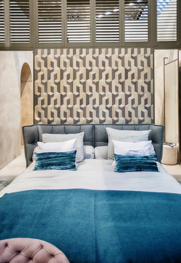 Szczegóły wnętrza sypialni obrazy royalty free