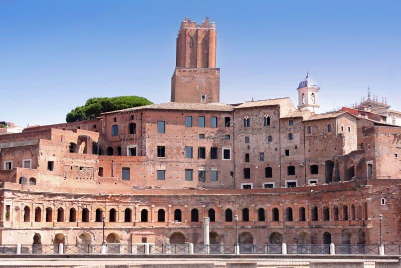 szczegóły wprowadzać na rynek Rome trajan zdjęcie royalty free